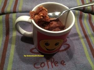 Erdnussbutter-Schoko-Mug Cake-Gabel