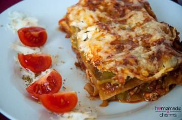 Lasagne seitlich