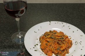 Zucchini-Spaghetti_angerichtet