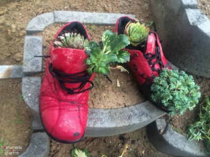 bepflanzte schuhe